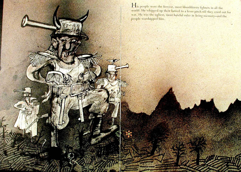 An illlustrated story by Ralph Steadman inspired by a story by Dimitri Sidjanski