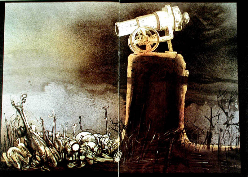 Illustration from the book by Ralph Steadman, inspired by a story by Dimitri Sidjanski.