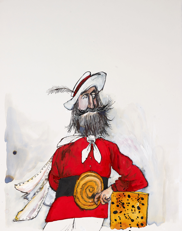 Ralph Steadman's illustrated book Garibaldi's biscuits