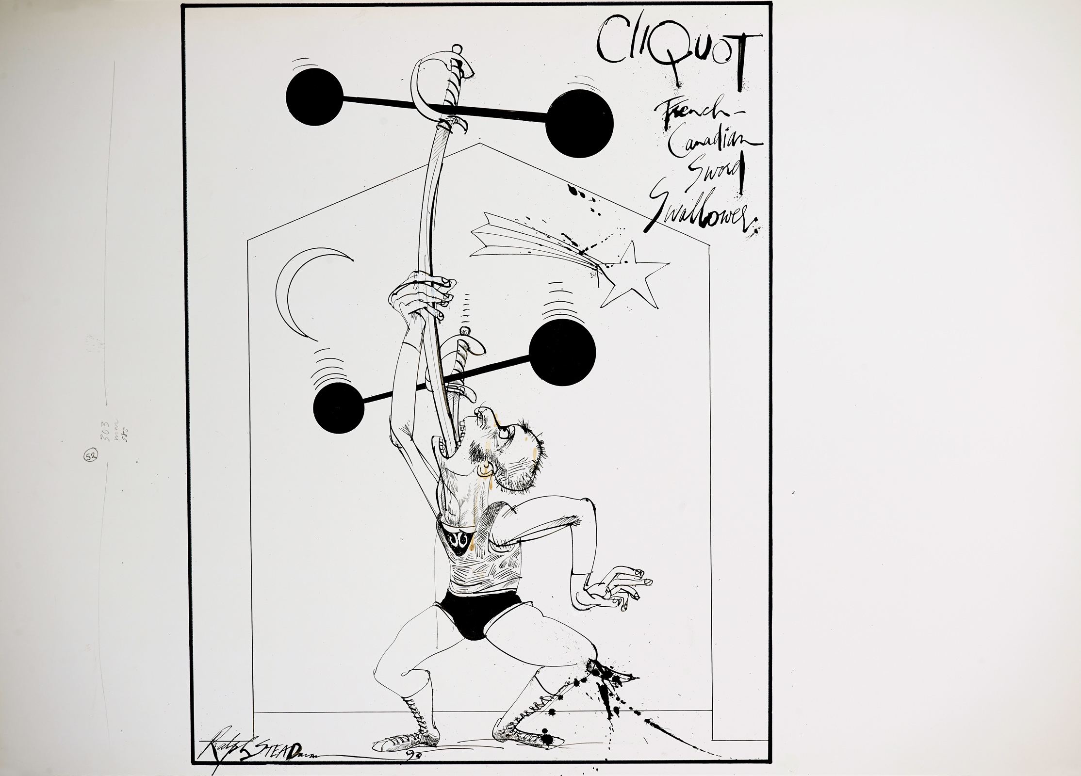 Collaboration between Ralph Steadman and Will Self