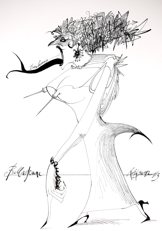Ralph Steadman's illustration of the Devil's Dictionary by Ambrose Bierce