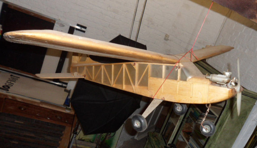 A model aeroplane made by Ralph Steadman as boy.