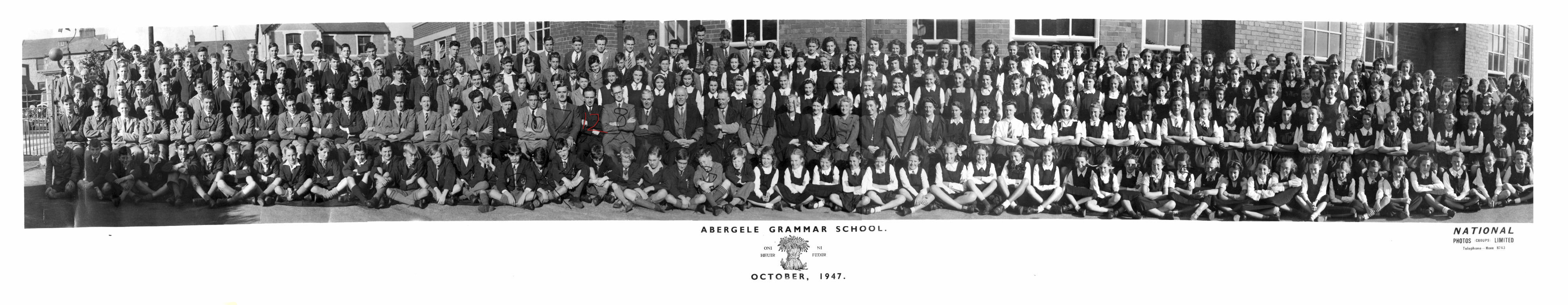 School Photograph of Abergele Grammar School while Ralph Steadman was there.