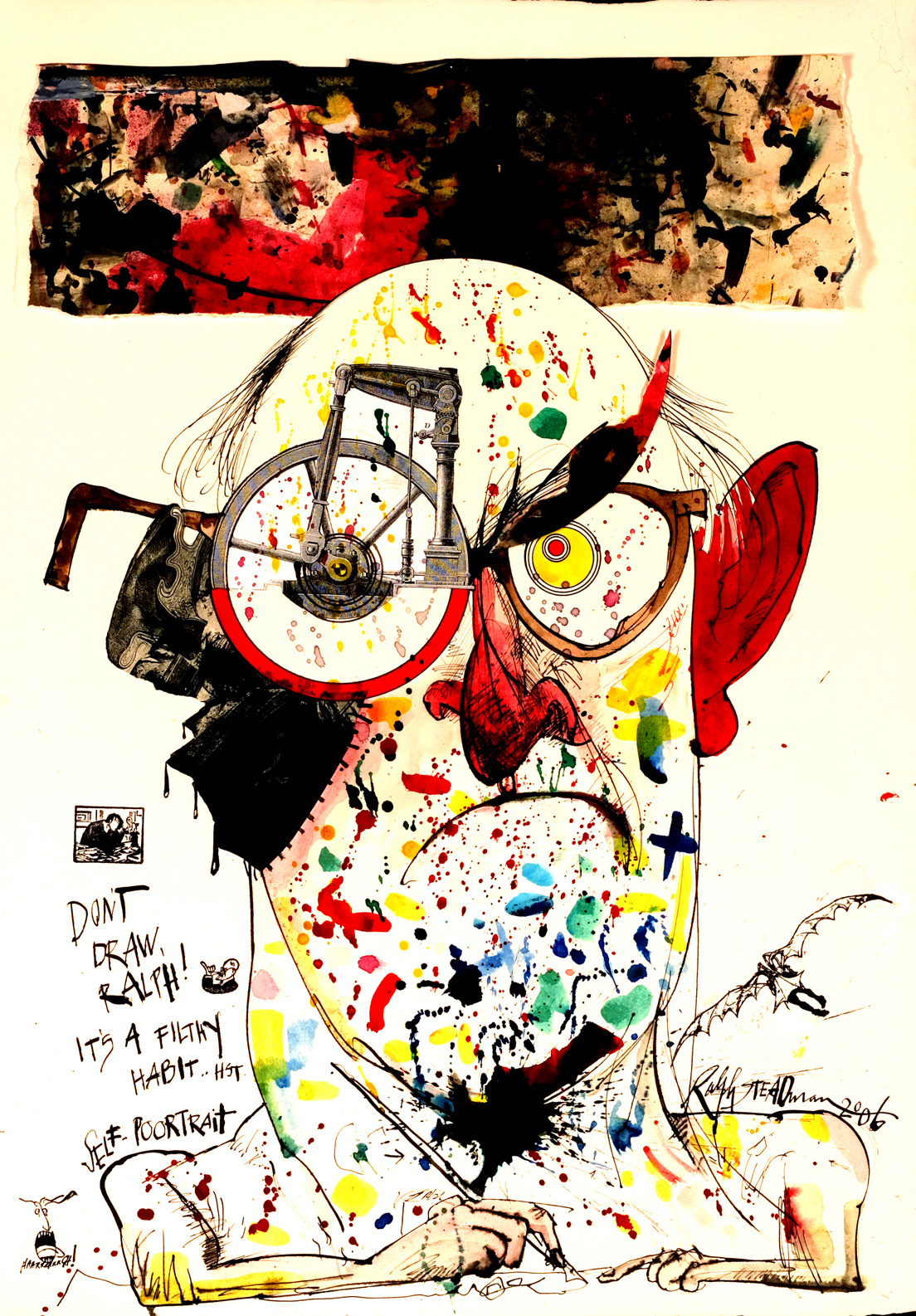 Self-portrait of Ralph Steadman