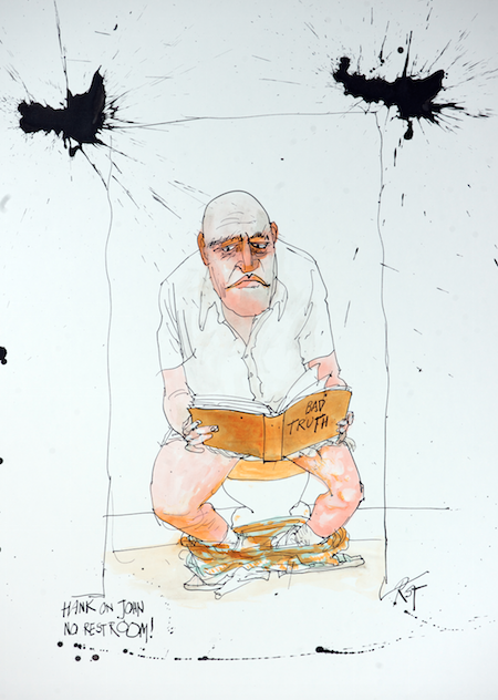 Portrait of the character, Hank from Breaking Bad by Ralph Steadman