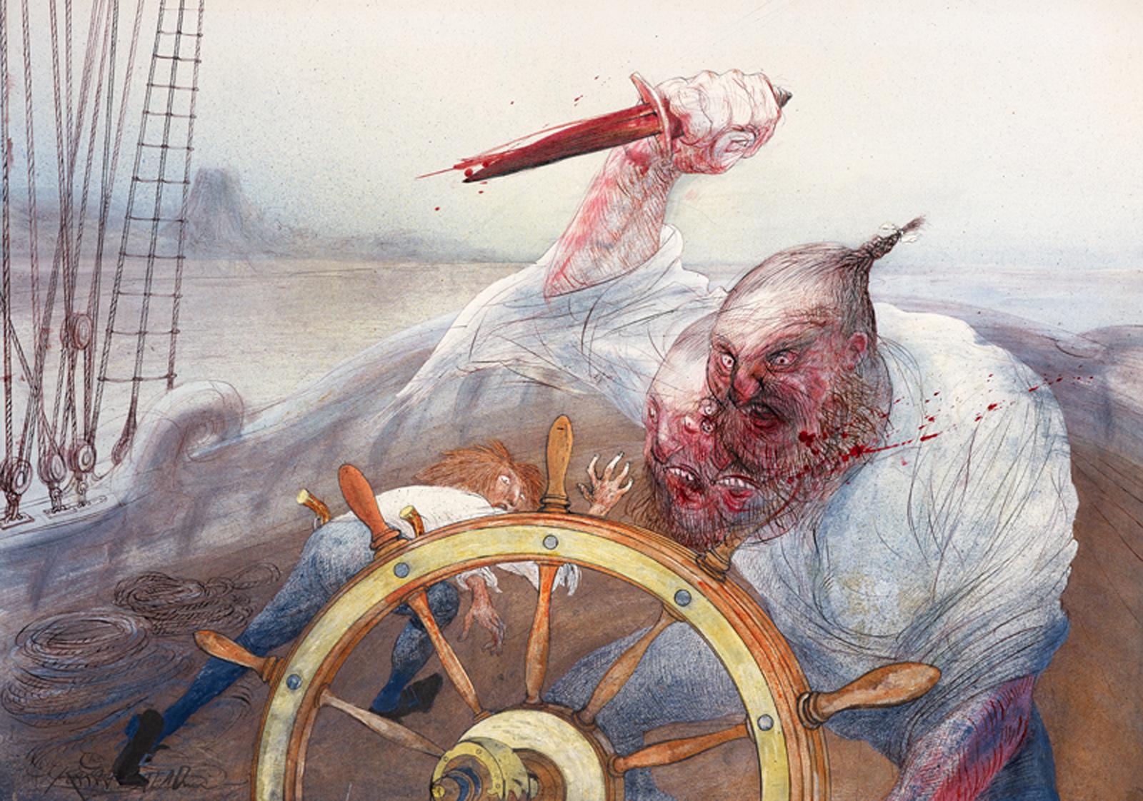 Ralph Steadman's illustrated version of Treasure Island