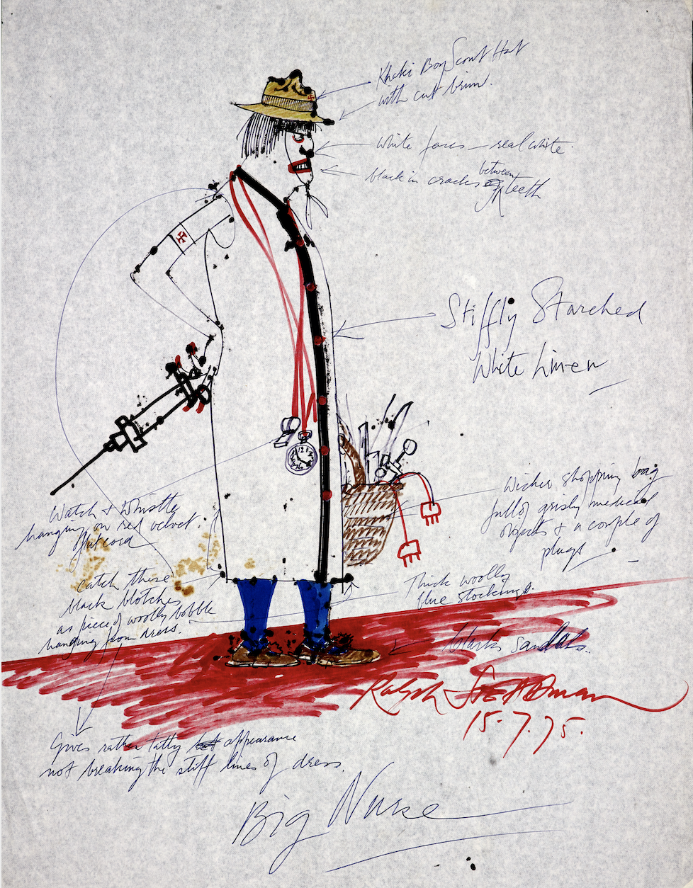 Nurse Costume, One Flew Over the Cuckoo's Nest, 1975 by Ralph Steadman