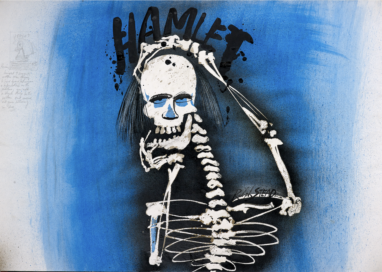 Hamlet Poster Artwork by Ralph Steadman